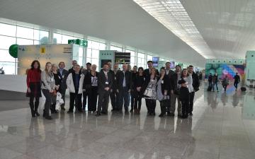 Visita al aeroport de Barcelona